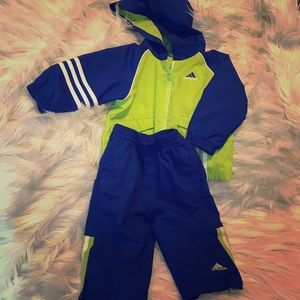 Adidas set size 12 months jacket and pants